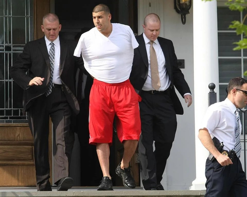 Aaron Hernandez was arrested at his North Attleborough home Wednesday morning.